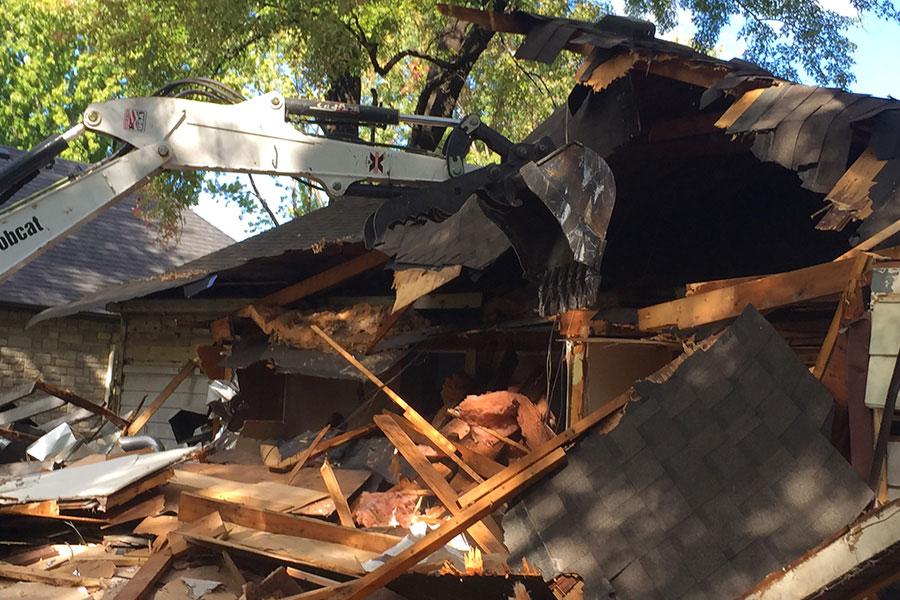 RKS demolish homes