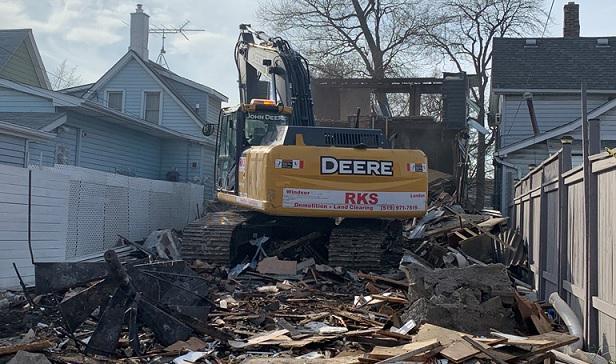 demolition on 658 caron windsor