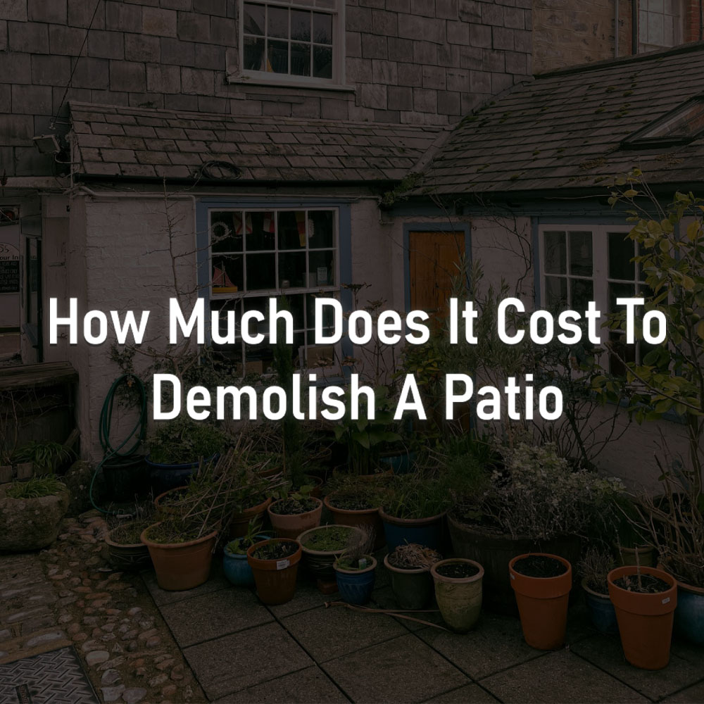 how much for demolition of concrete patio RKS Services Group Inc
