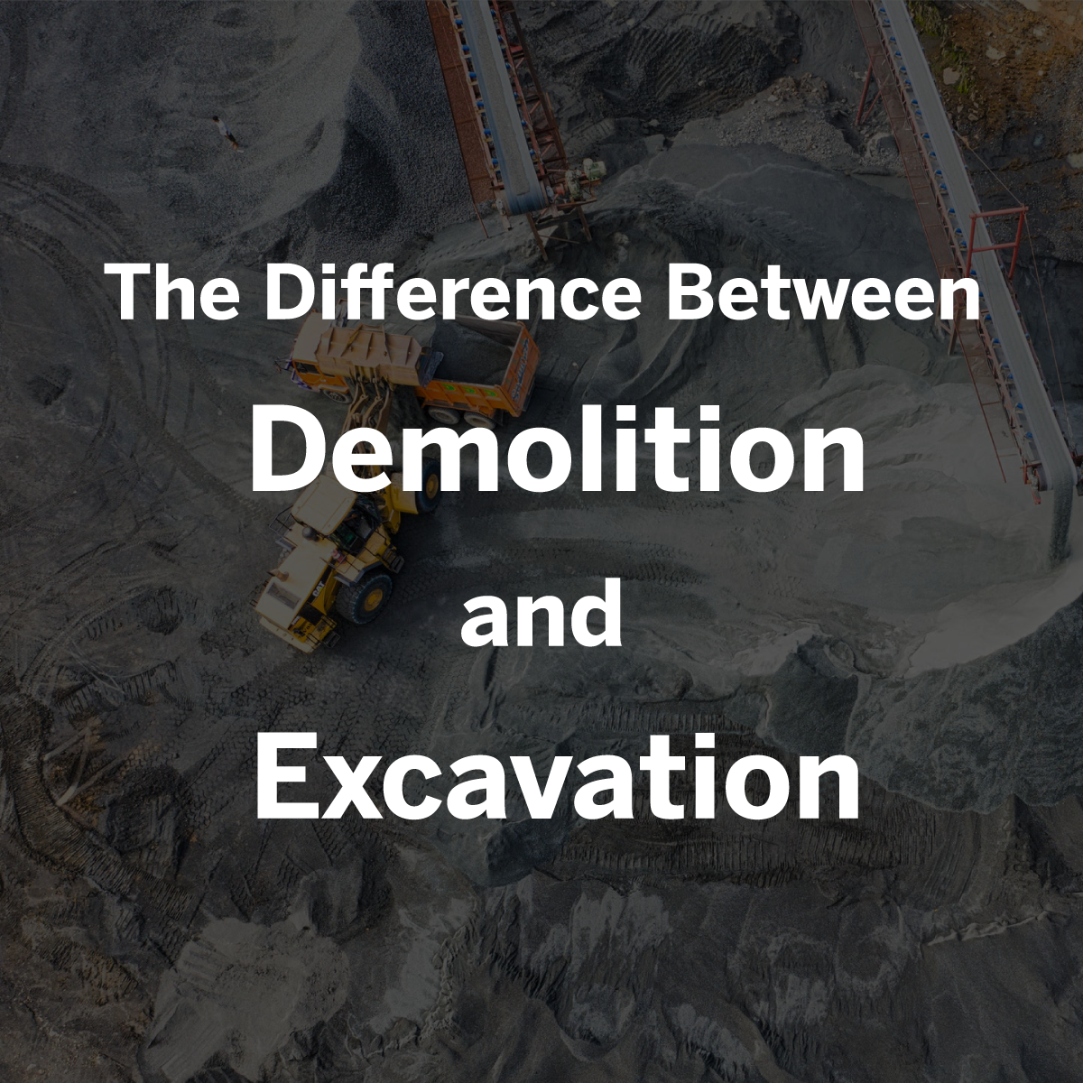difference between demolition and excavation from rks services group windsor ontario