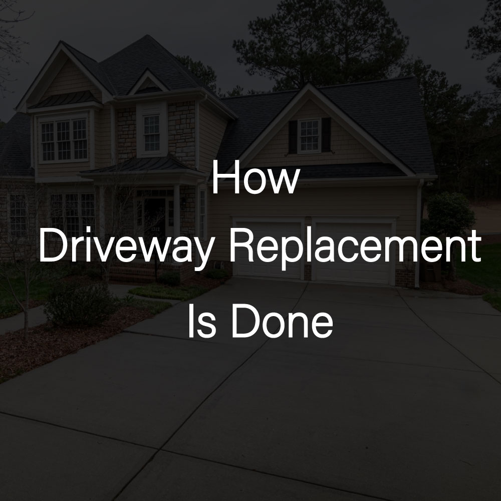 how to replace driveway rks services group inc