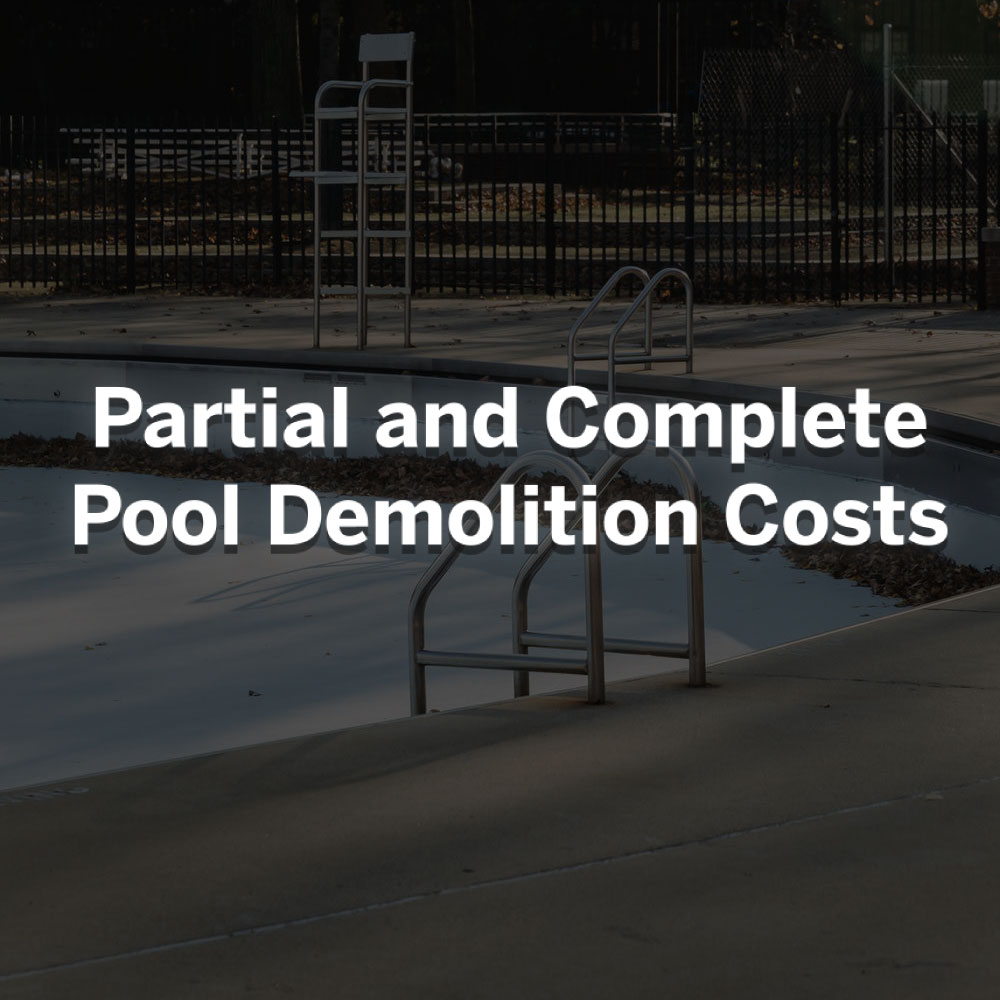 pool demolition cost calculator and estimates rks services group inc
